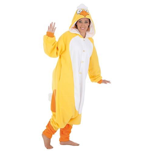 Costume adulte poulet drôle t-l
