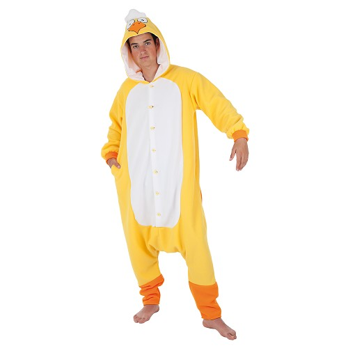 Costume adulte poulet drôle T-Xl