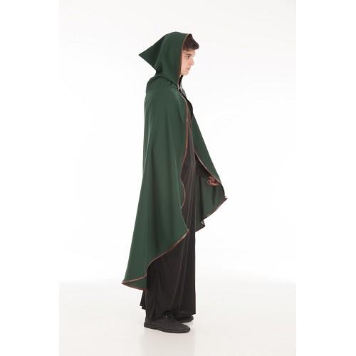 Médiévale coat peau garniture verte taille L