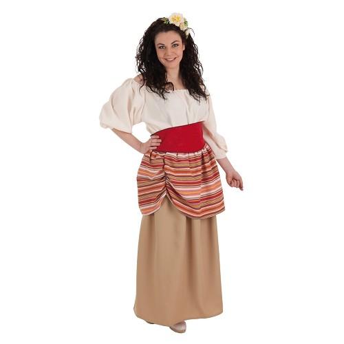 Costume adulte de Carlota paysan