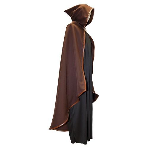 Robe médiévale liséré brun peau t.-l.