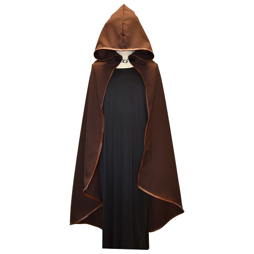 Peau de bordure brun médiéval manteau T-Xl
