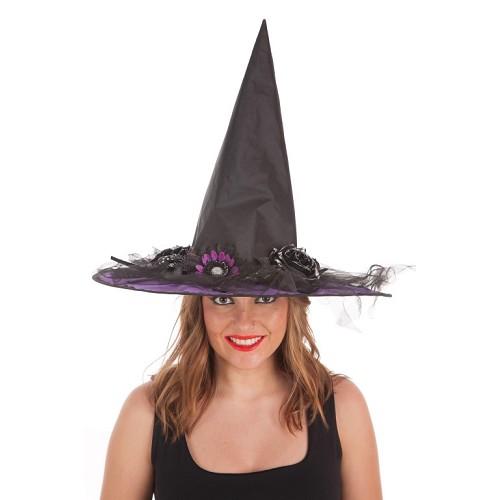 Lilas de fleurs chapeau sorcière