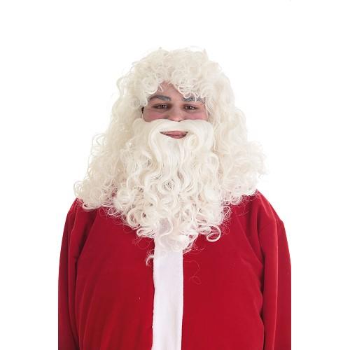 Perruque et barbe à Papa Noel Lux