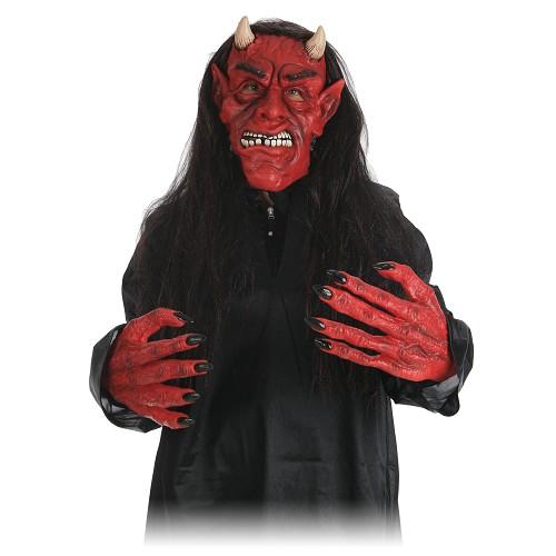 Set masque avec perruque et mains assorties