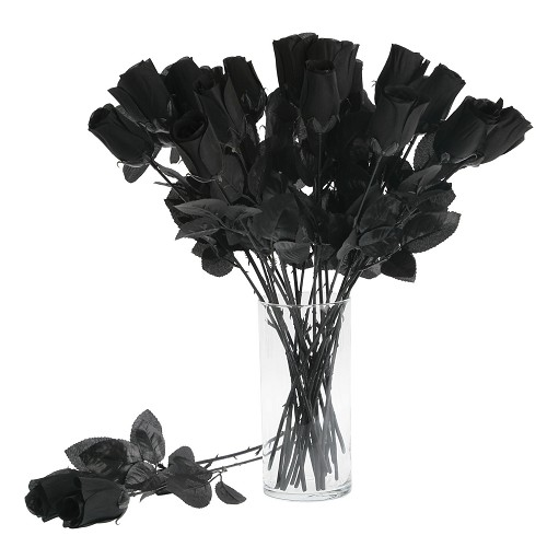 Rose noir 44 Cm.
