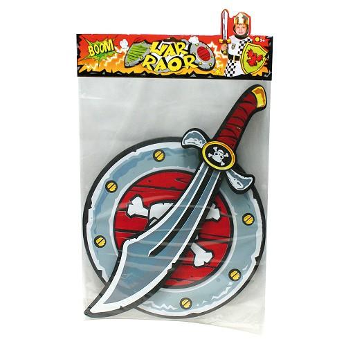 Bouclier et épée pirate Eva 35 * 2 * 48 cm