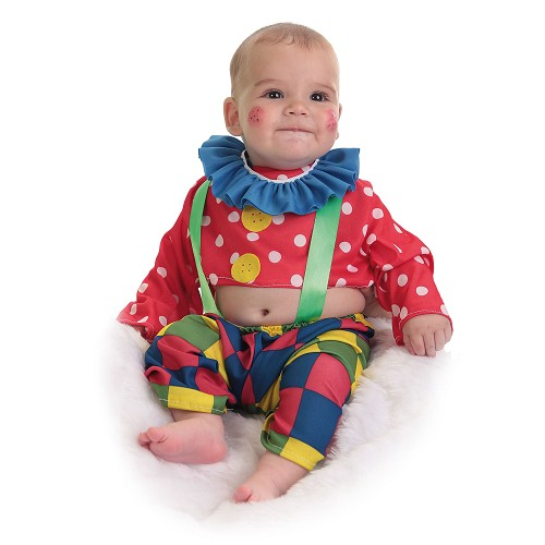 Clown de bébé costume Spotty (0 à 12 meses)