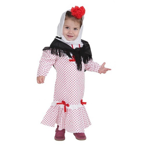 Costume bébé Chulapa corail T-Xs (1 a 2 años)