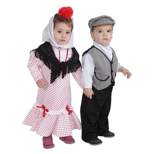 Costume bébé Chulapa corail t (2 a 3años)