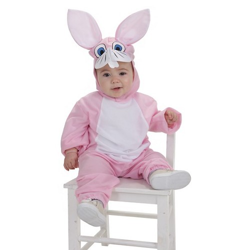 Costume lapin rose (0 a 12 meses)