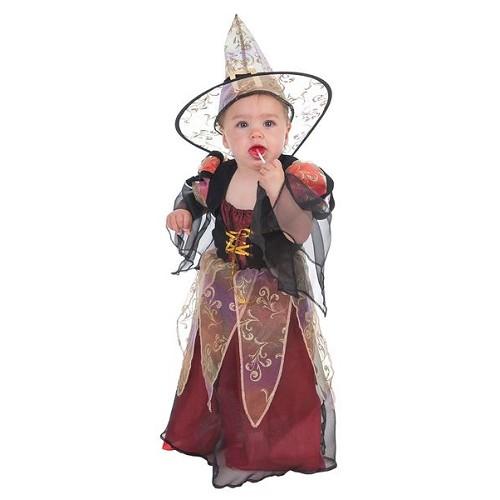 Costume sorcière bébé Bordeaux (0 à 12 meses)