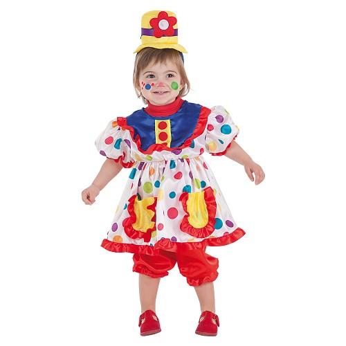 Costume de clown bébé Tina (0 à 12 meses)