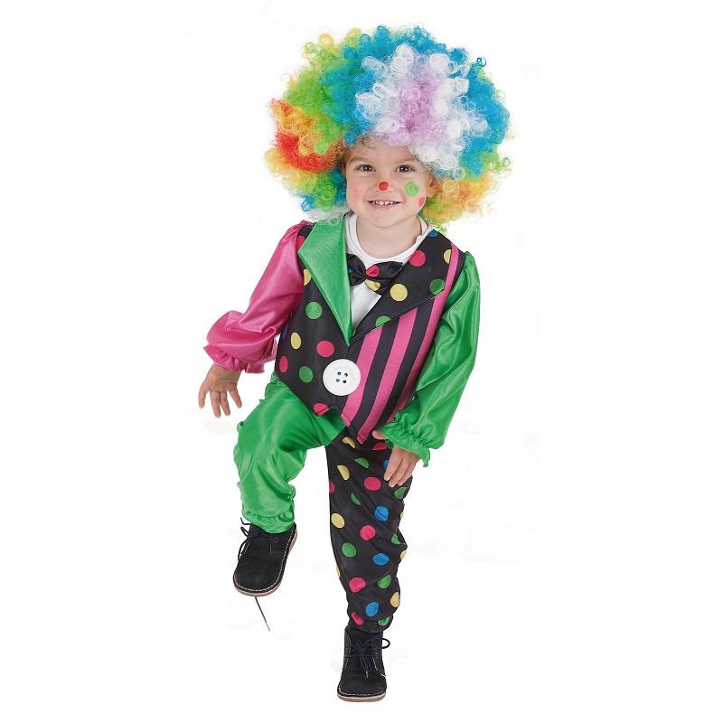 Bande de clown costume bébé (0 à 12 meses)