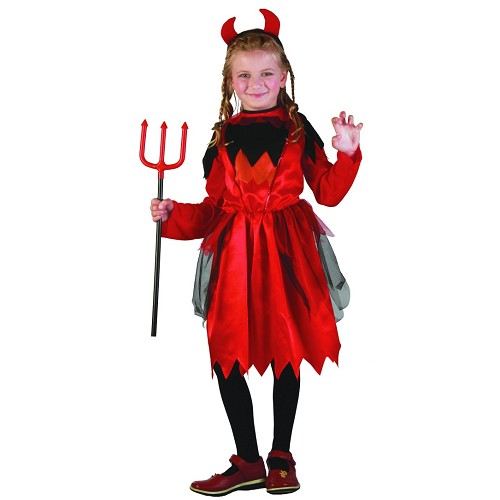 Costume enfant diable rouge