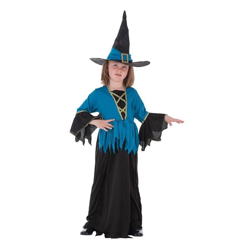 Costume enfant sorcière bleue
