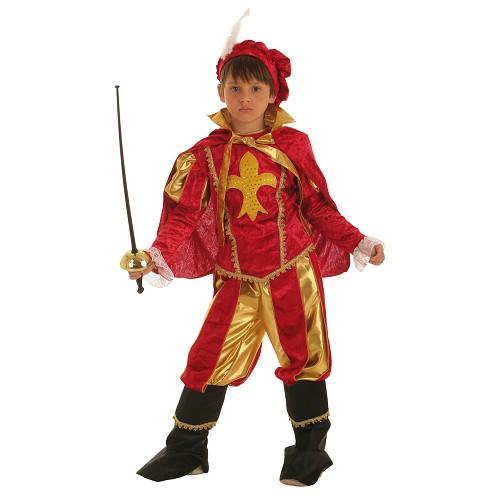 Costume enfant mousquetaire or