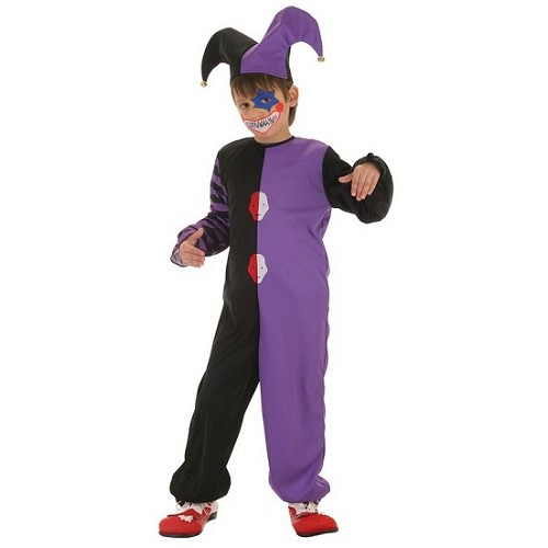 Clown de Costume enfant bicolore