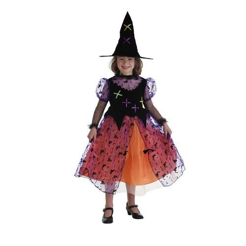 Costume enfant sorcière Colorin