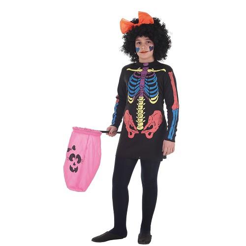 Costumes pour enfants robe Skeleto couleur