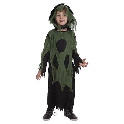 Costume d'enfant tunique en mousseline de soie vert