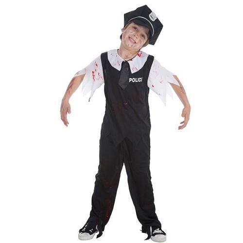 Costume enfant de police Zombie
