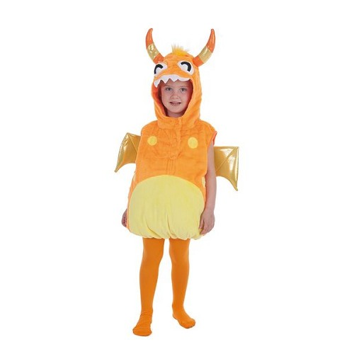 Enfant costume monstre Orange 5 / 6 ans