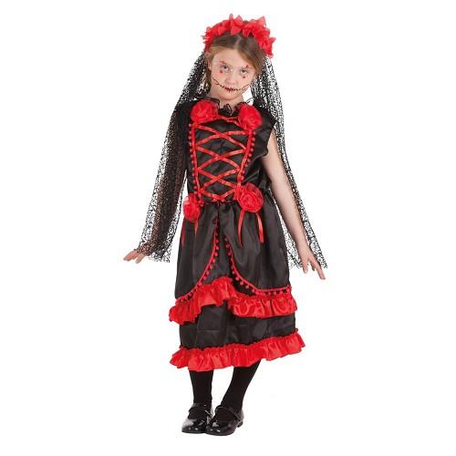 Disfraz Infantil Catrina Flores