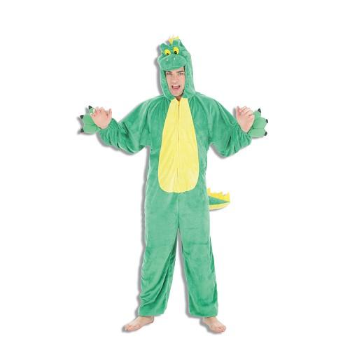 Costume adulte Dino vert