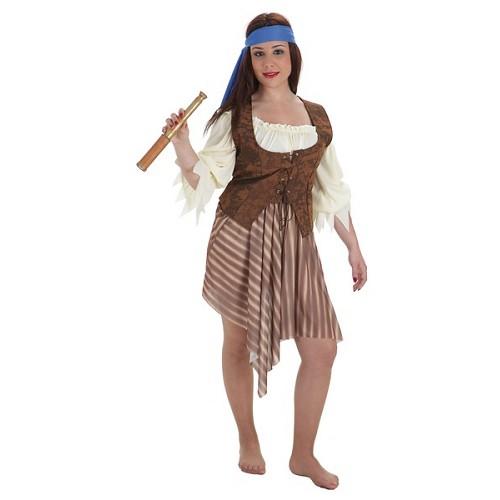 Costume adulte pirate rayé