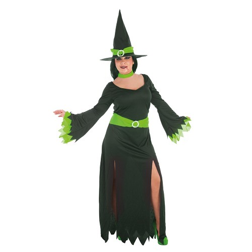 Costume adulte sorcière verte