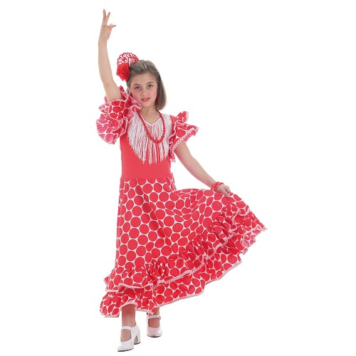 Costume enfant Séville à pois rouge