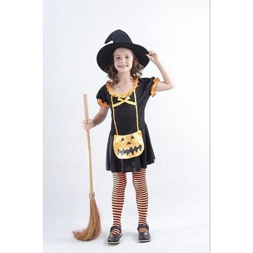 Disfraz Infantil Brujita Calabaza - Md