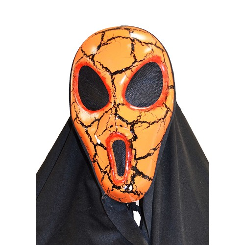 masque orange grands yeux H0082