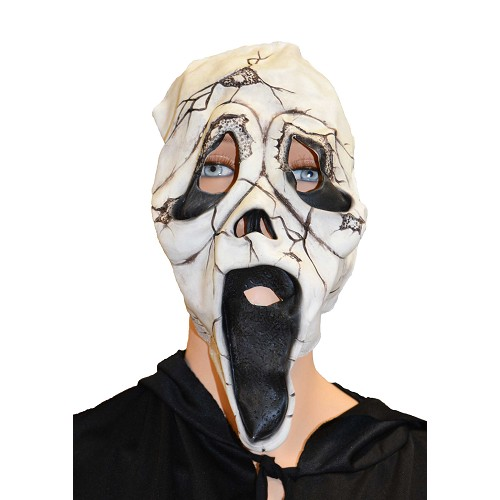masque blanc concassé