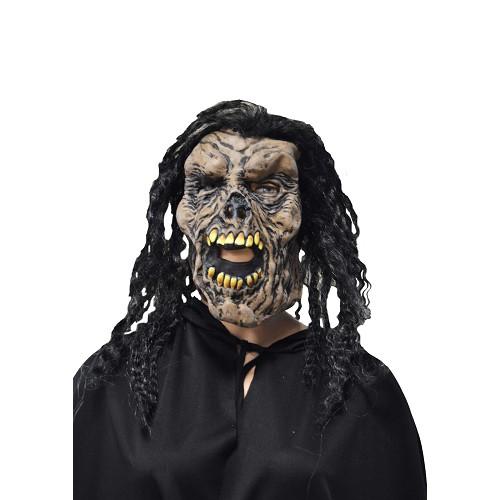 brun masque c / noir bouclés H0125 cheveux