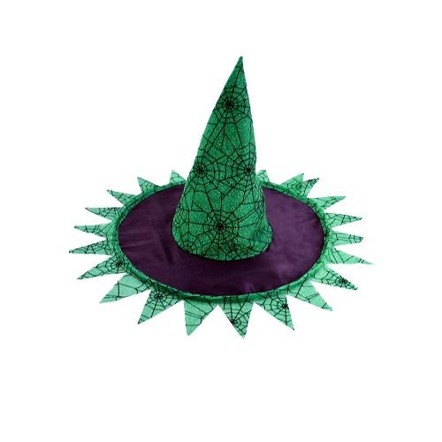 Chapeau noir / sorcière verte H0156