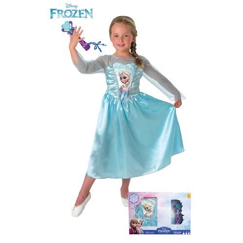 Costume classique Elsa + Micro Dans la sécurité des enfants