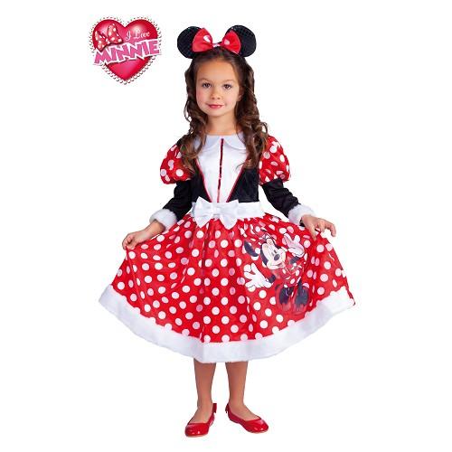 Minnie Mouse costume rouge d'hiver enfants