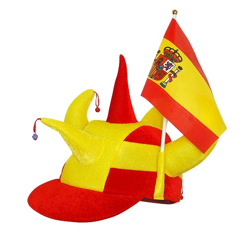 Cap cornes drapeau Espagne
