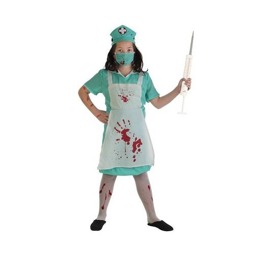 Disfraz Infantil Enfermera Sangrienta