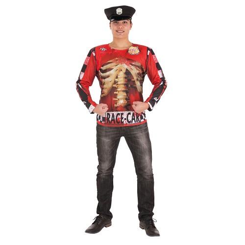 Disfraz Camiseta Policia Zombie Adulto