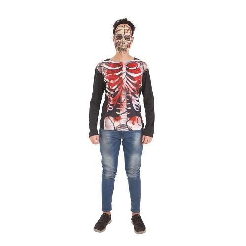 Disfraz Camiseta Skelet Adulto
