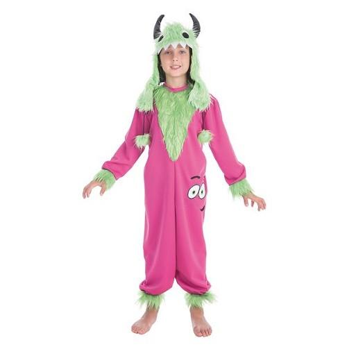 Peluche monstre vert enfant costume