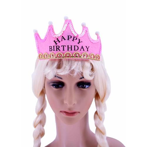 Corona Rosa Cumpleaños