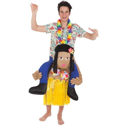 Disfraz A Hombros Hawaiana con Turista