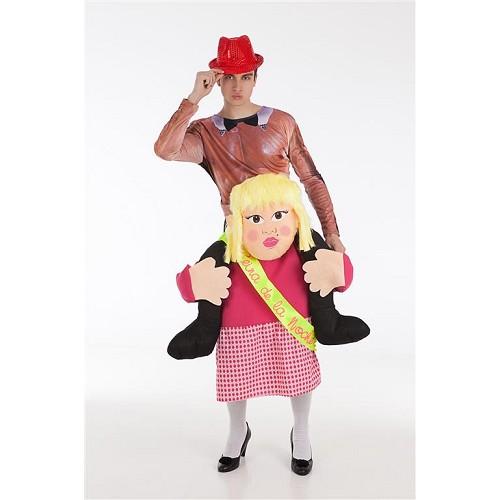 Disfraz A Hombros Stripper con Chica Adulto