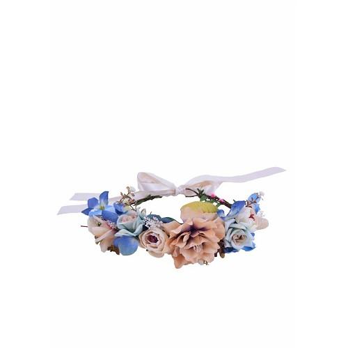 Diadema Flores Secas Tono Azulado