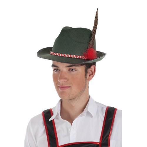 Sombrero Bávaro Cordón Rojo