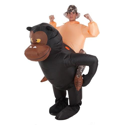 Costume de gorille gonflable et Aventureux